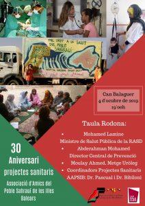 commemoració del 30 aniversari dels projectes de suport al sistema sanitari de la República Àrab Sahrauí Democràtica.