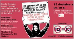 "CONVERSA SOBRE ""PODER SOCIAL vs PODER TRANSNACIONAL"" @ CENTRO FLASSADERS"