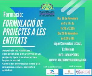 """Curs """"Formulació de Projectes a les entitats"""" @ ESPAI COMUNITARI LITORAL"""