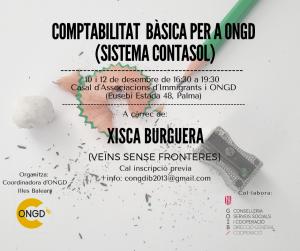 FORMACIÓN en Sistema Contasol (gratuita) @ Casal d´associacions d¨Immigrants i ONGD