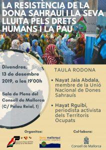 """Taula Rodona """"La Resistència de la Dona Sahrauí i la seva Lluita pels Drets Humans i la Pau"""" @ Sala de Plens del CONSELL DE MALLORCA"""