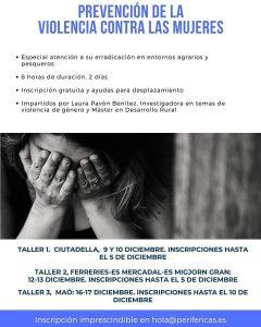 Talleres gratuitos en Menorca sobre prevención de la violencia contra las mujeres - Inscripciones hasta el 5 de diciembre @ MENORCA