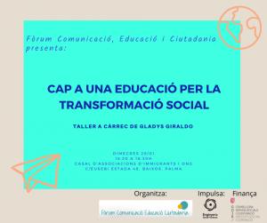Taller: Quins subjectes i quines pedagogies per a una transformació vital. @ Casal d'Associacions d'Immigrants i ONGD