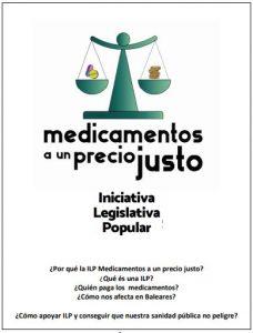"""PRESENTACIÓ A PALMA DE LA INICIATIVA LEGISLATIVA POPULAR (ILP) """"MEDICAMENTOS A UN PRECIO JUSTO"""" @ Centre Flassaders."""